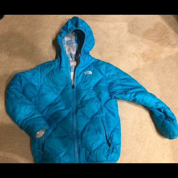 b3a19a0b7 THE NORTH FACE GIRLS DOWN FILLED JACKET SZ LG
